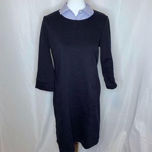 Talbots Navy Blue Collared Dress